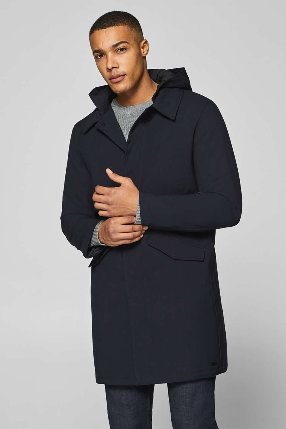 Esprit - Parka with a hood