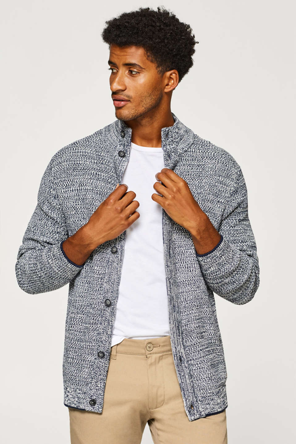 Esprit - Knit cardigan in 100% cotton
