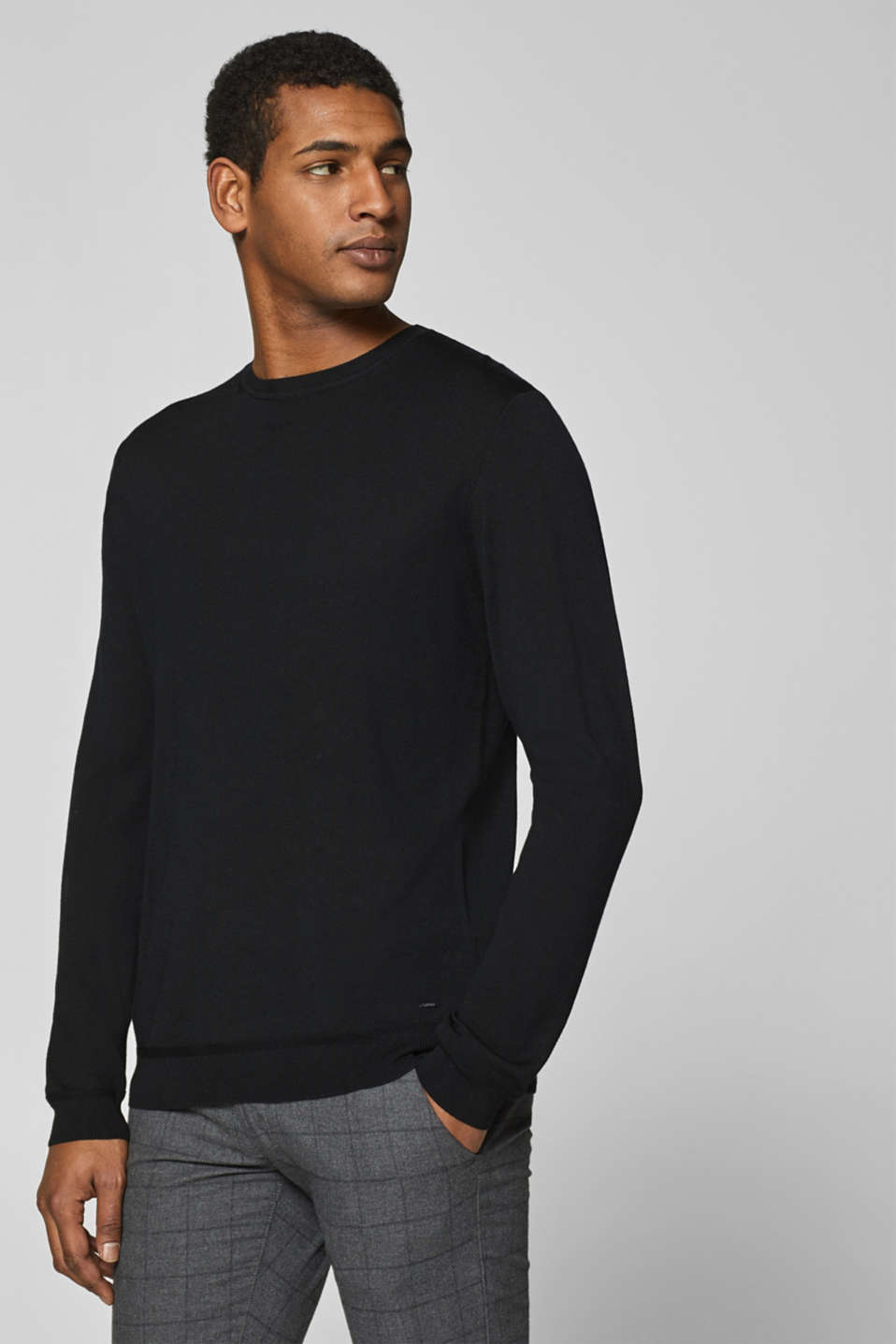 Esprit - 100% merino wool: Jumper in a basic look