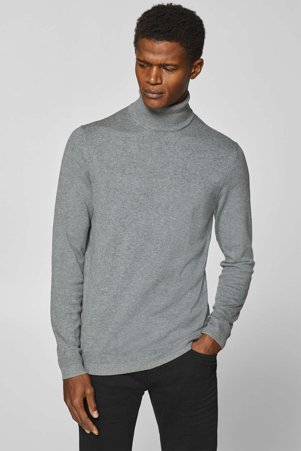 Esprit - With cashmere: roll neck jumper