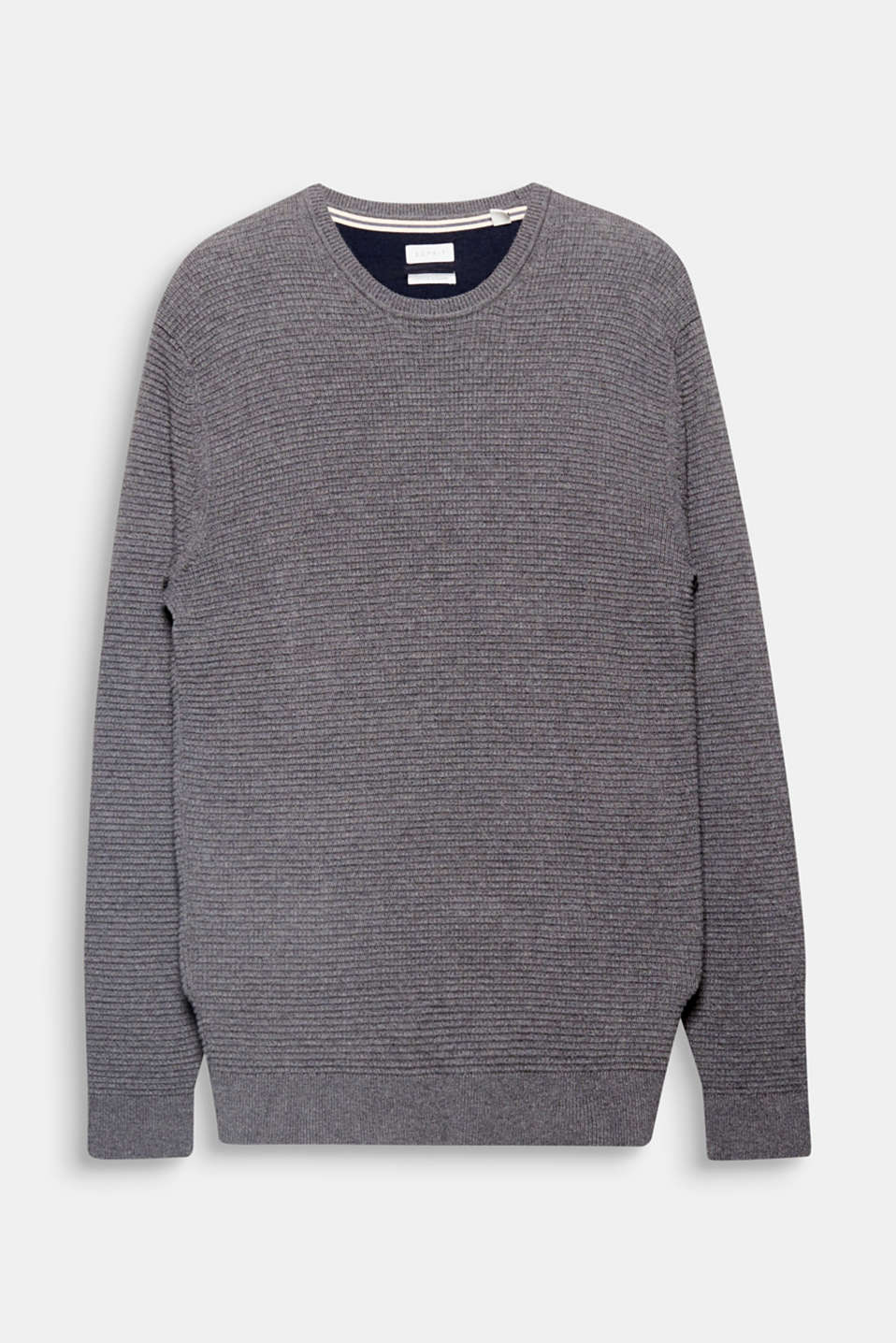 We love texture! The high-quality textured knit in an exquisite cotton/cashmere blend makes this jumper a timeless essential.