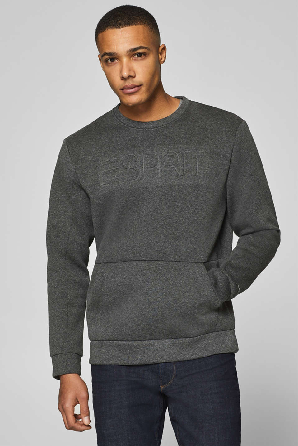 Esprit - KEEP COOL, STAY WARM: Sweatshirt mit 3D-Logo
