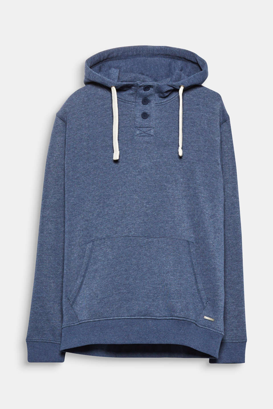With soft sweatshirt fabric and a warm fleece interior, this hoodie will be a cosy favourite this season.