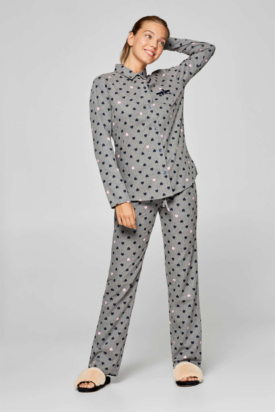 Esprit - Melange pyjamas with a heart print