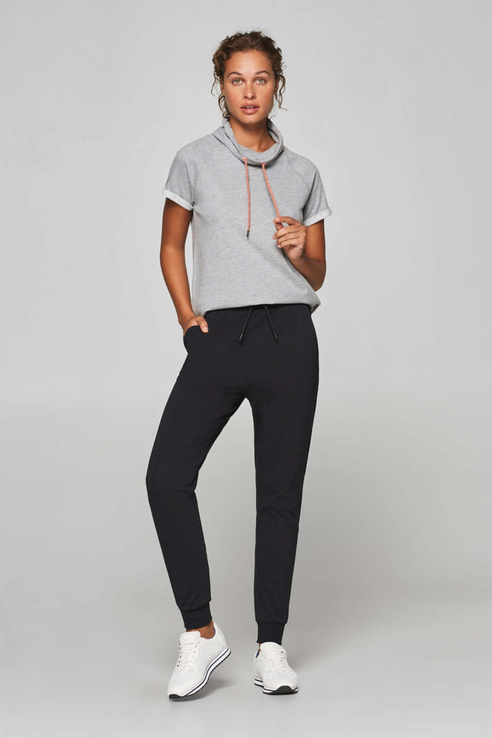 Esprit - Stretch cotton jersey trousers