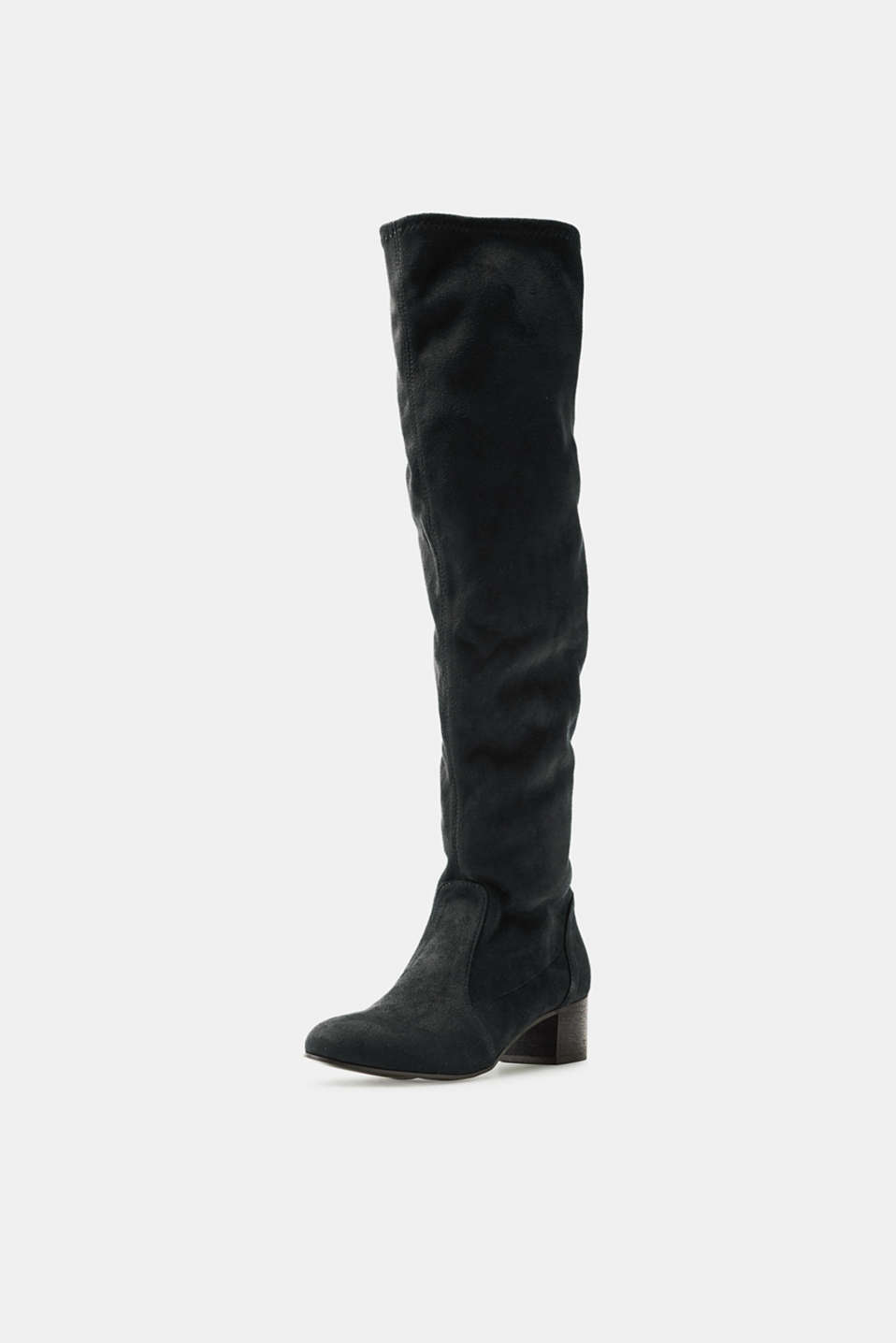 Over-the-knee boots with stretchy legs