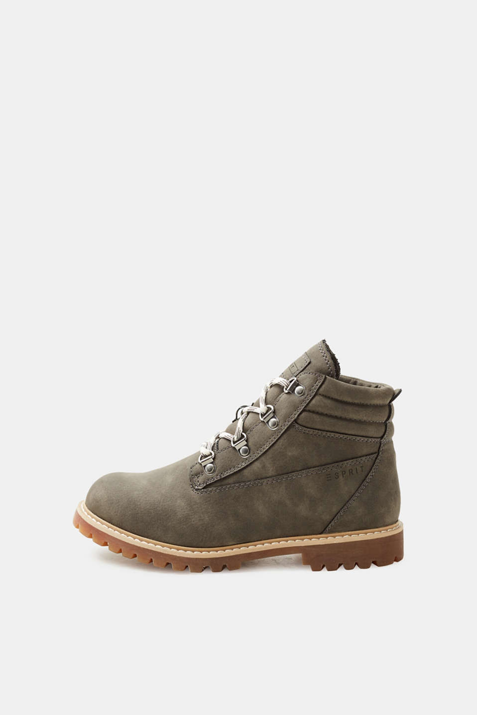 Esprit - Vegan lace-up boots with tread soles