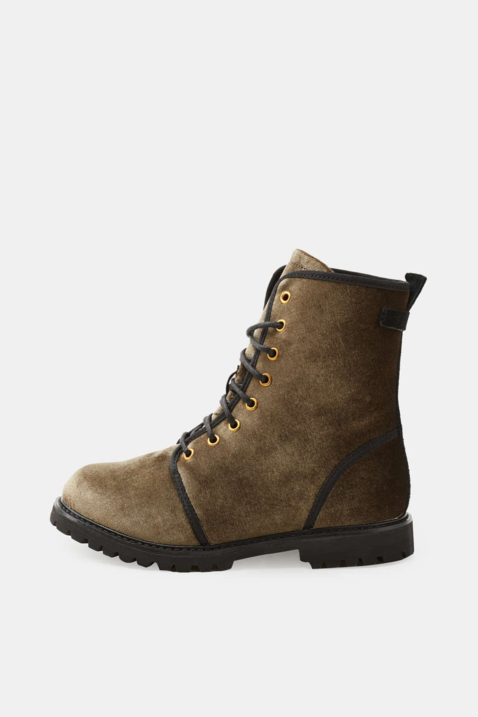 Esprit - Velvet lace-up boots