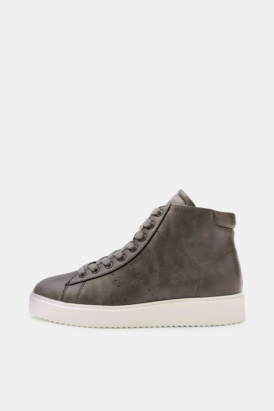 Esprit - Faux leather high-top trainers