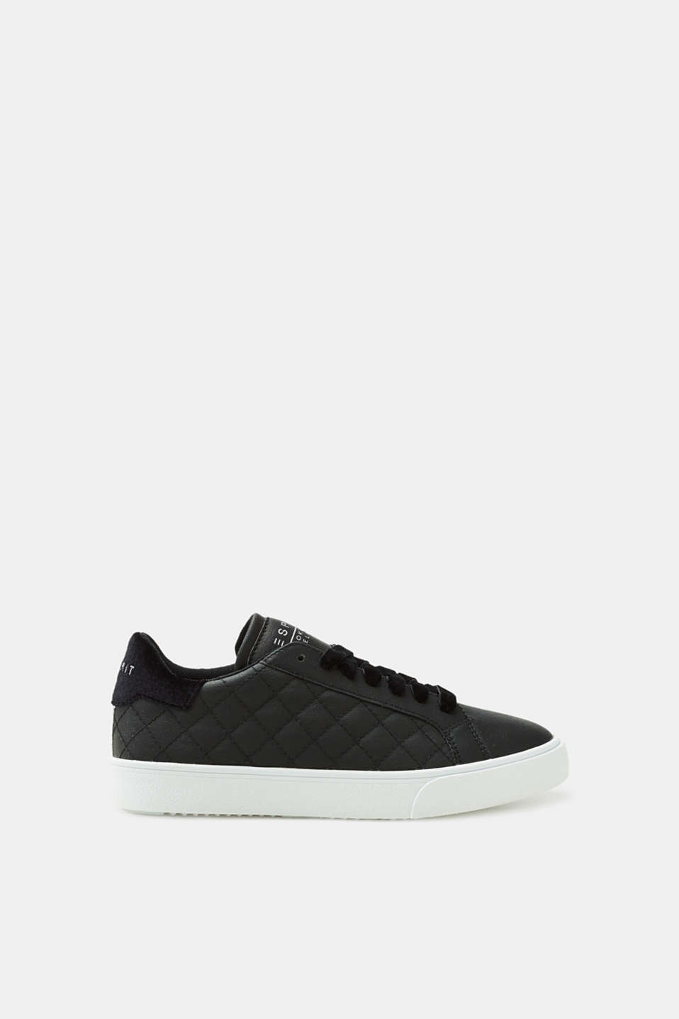 Esprit - Trainers with cross stitching, in faux leather