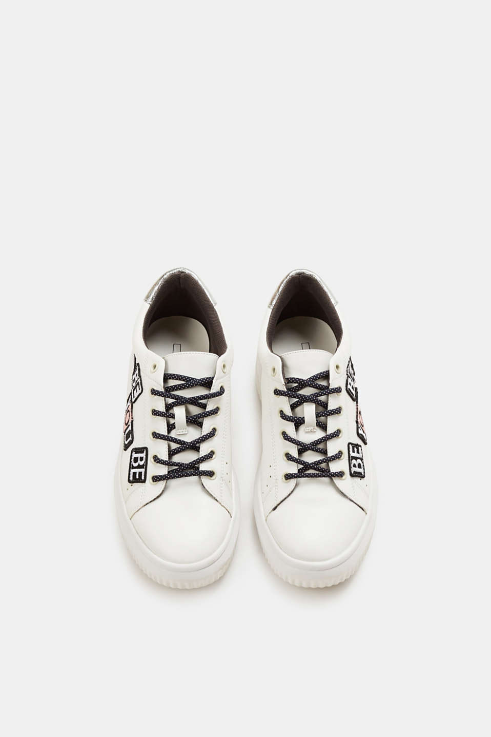 Statement platform trainers in faux leather