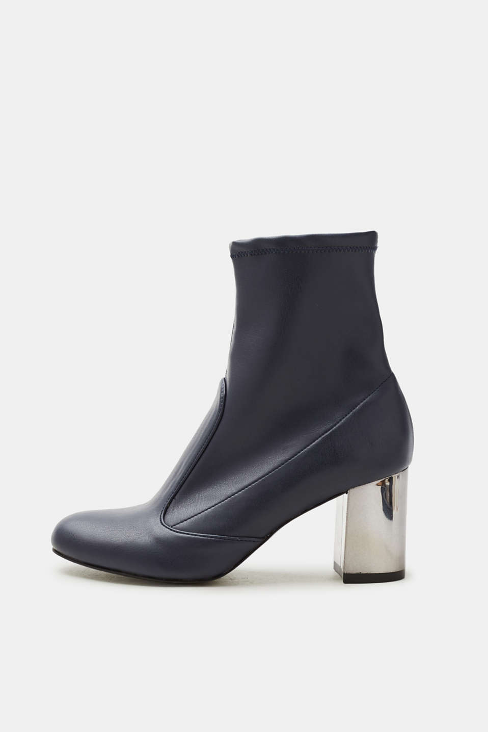Esprit - Ankle boots with a block heel, in faux leather