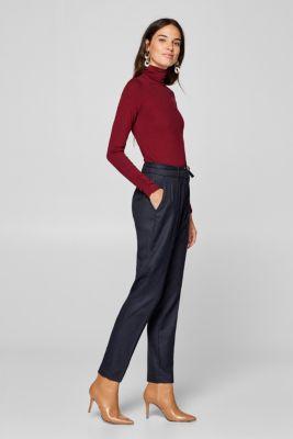 Esprit – Kárované strečové kalhoty s úzkým opaskem v našem on-line shopu 07ba63cc33