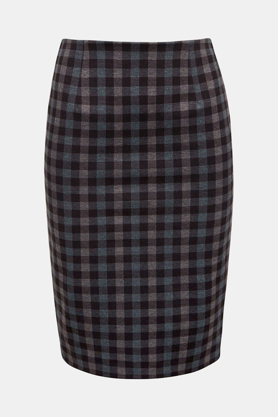 This feminine pencil skirt with added stretch for comfort and a classic check pattern combines the high art of tailoring with a comfortable fit!