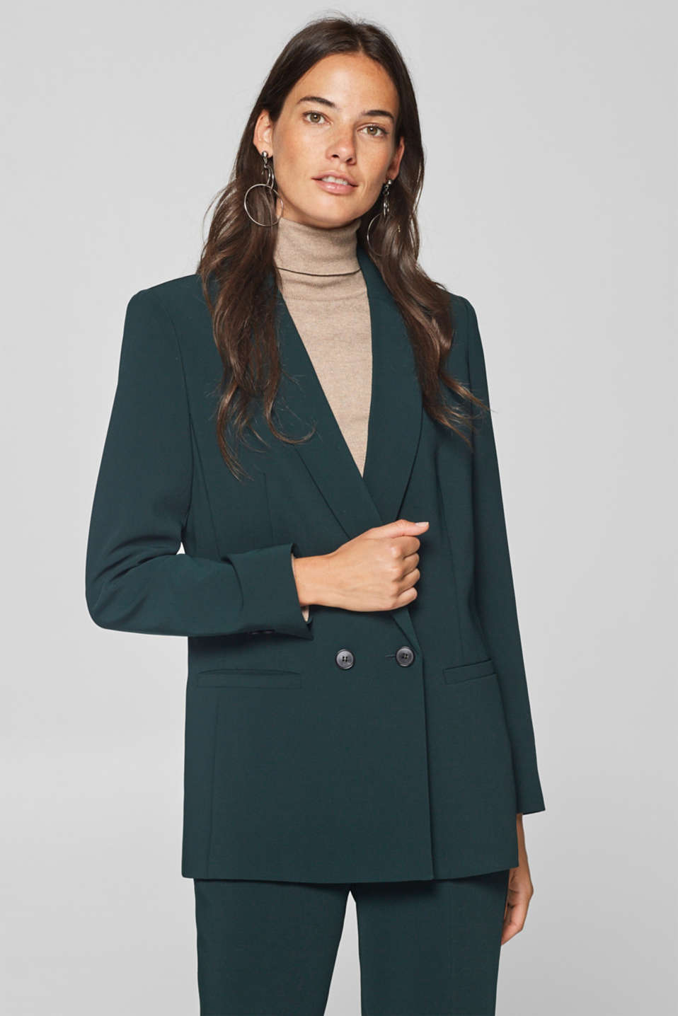 Esprit - TECHNO TWILL mix + match two-button blazer