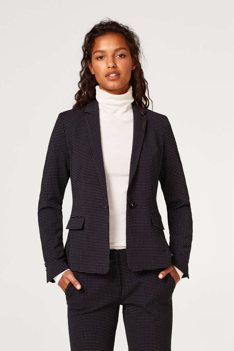 Esprit - JACQUARD Mix + Match Stretch-Blazer