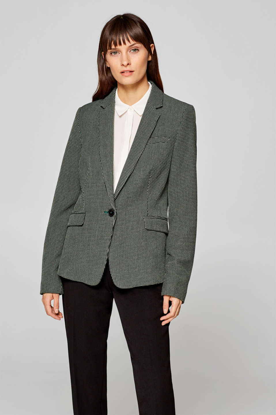 Esprit - MINI CHECK mix + match stretch blazer