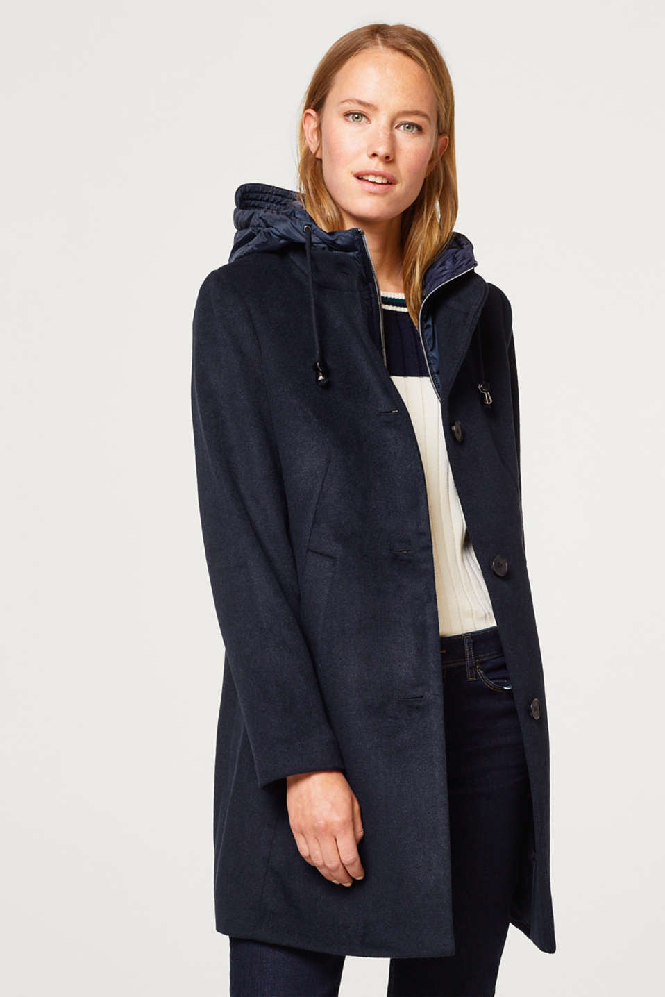 Esprit - With wool: 2-in-1 coat