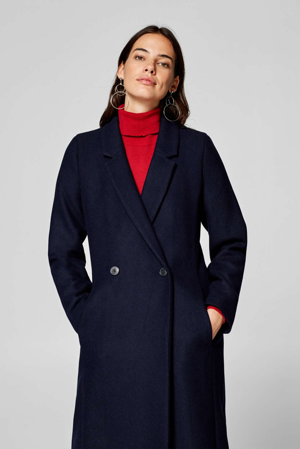 Esprit - Long wool blend coat