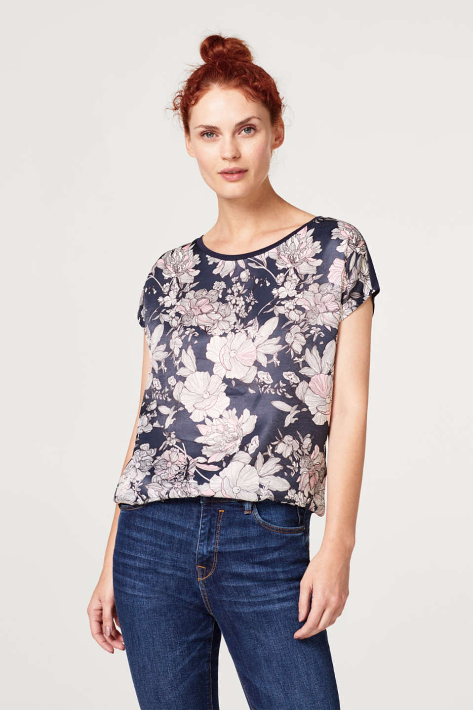 Esprit - Blouse top with a print