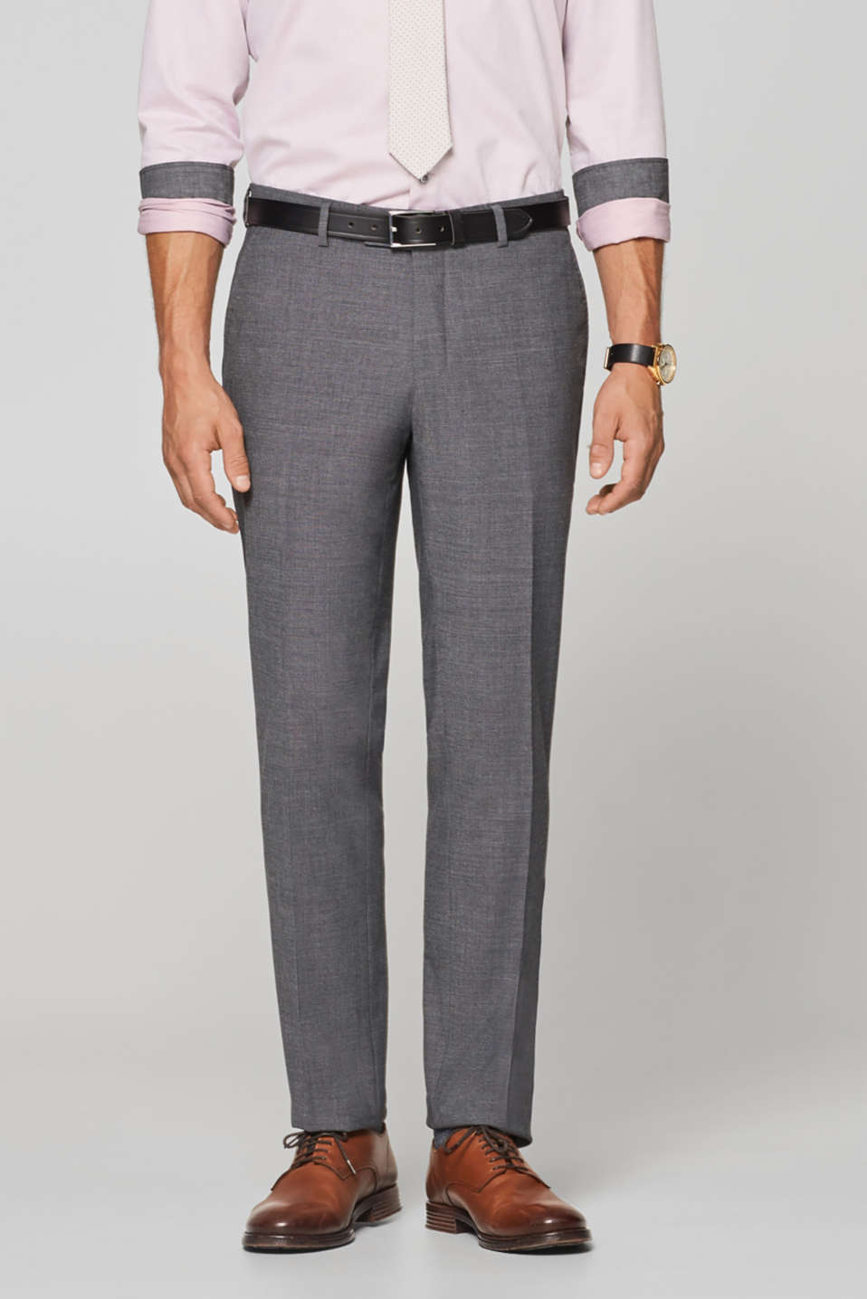 Esprit - ACTIVE SUIT mix + match: Textured trousers