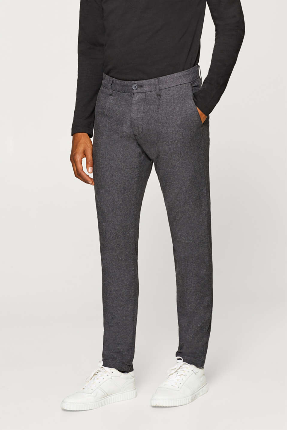 Esprit - Melange chinos in stretch cotton