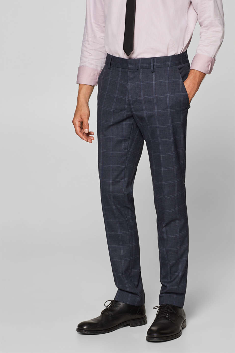 Esprit - CHECK mix + match: Trousers with a lattice pattern