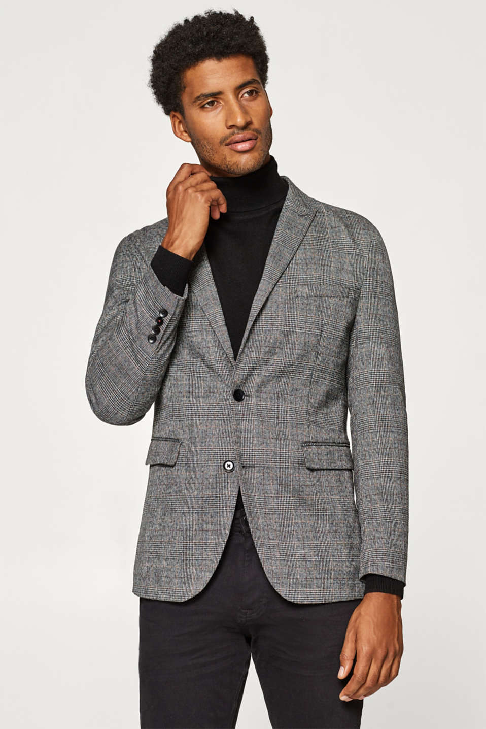 Esprit - Jacket with a Prince of Wales check pattern