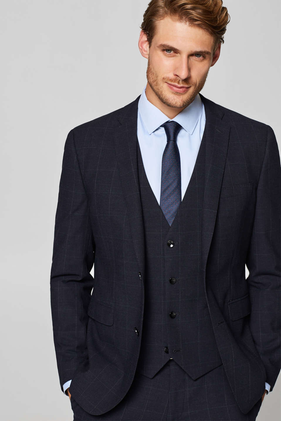 ACTIVE SUIT mix + match: waistcoat with a lattice pattern