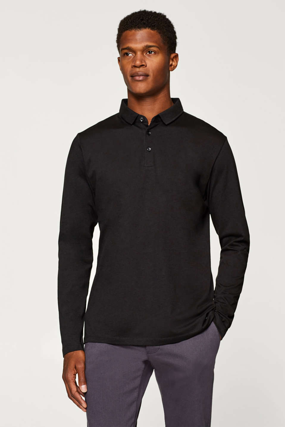 Esprit - Fitted polo shirt in 100% cotton