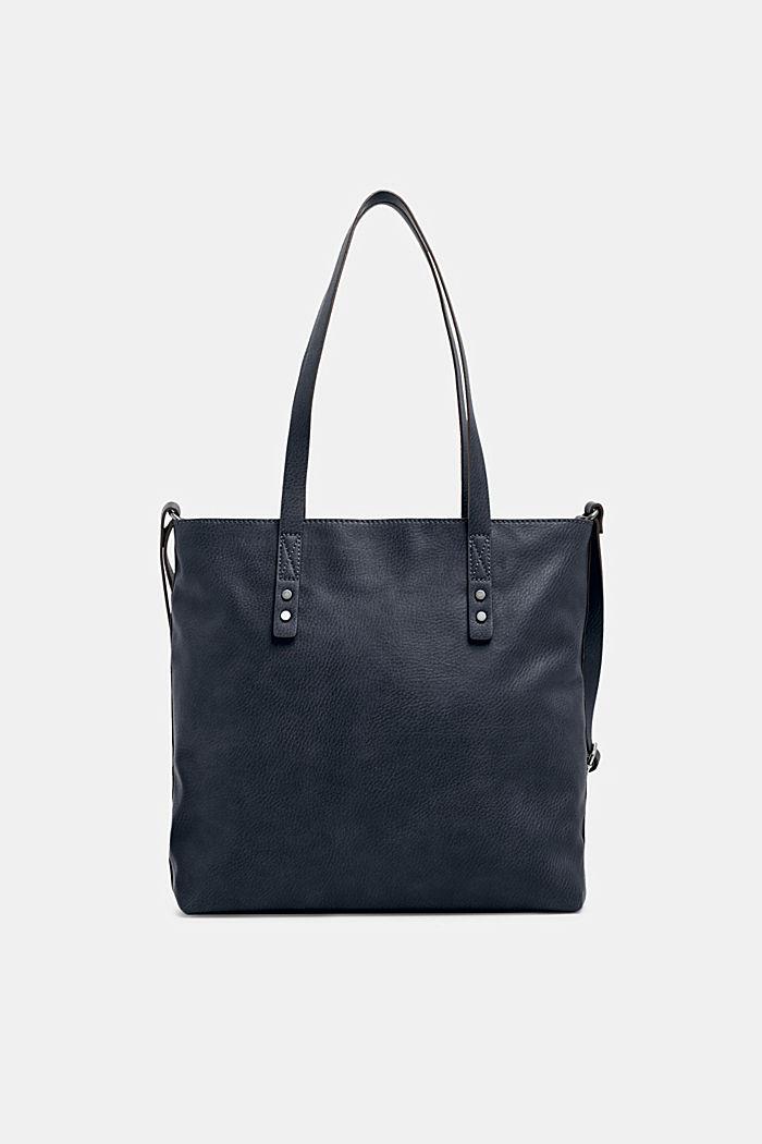 Tote Bag in Leder-Optik, NAVY, detail image number 0