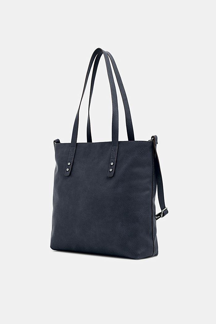 Tote Bag in Leder-Optik, NAVY, detail image number 1