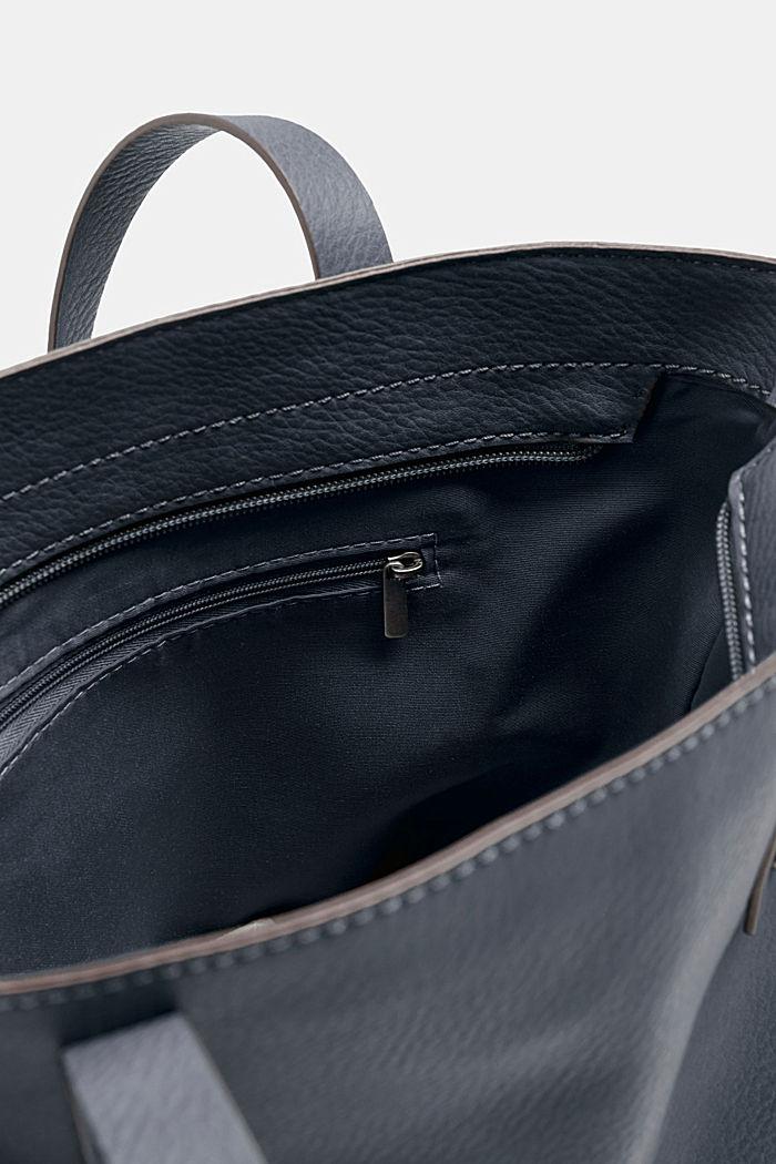 Tote Bag in Leder-Optik, NAVY, detail image number 3