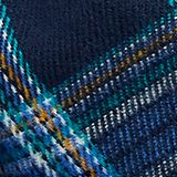 Scarf with colourful woven check pattern, NAVY, swatch