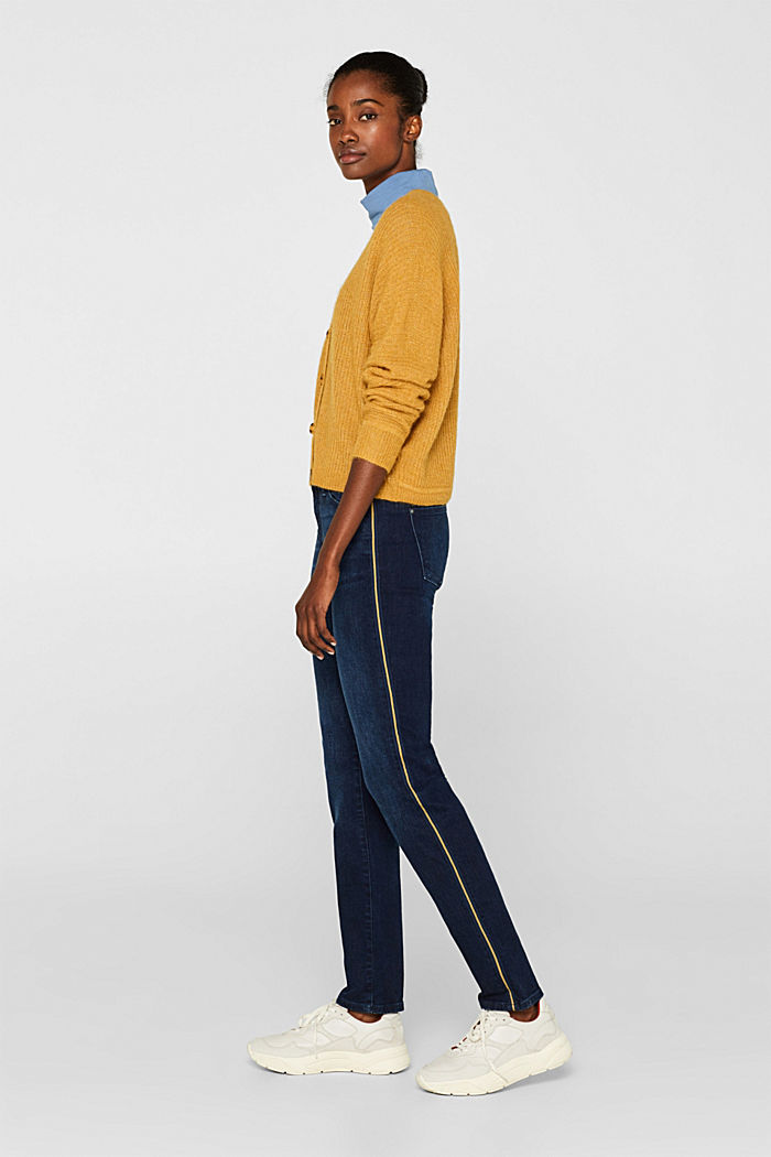Stretch jeans with racing stripes
