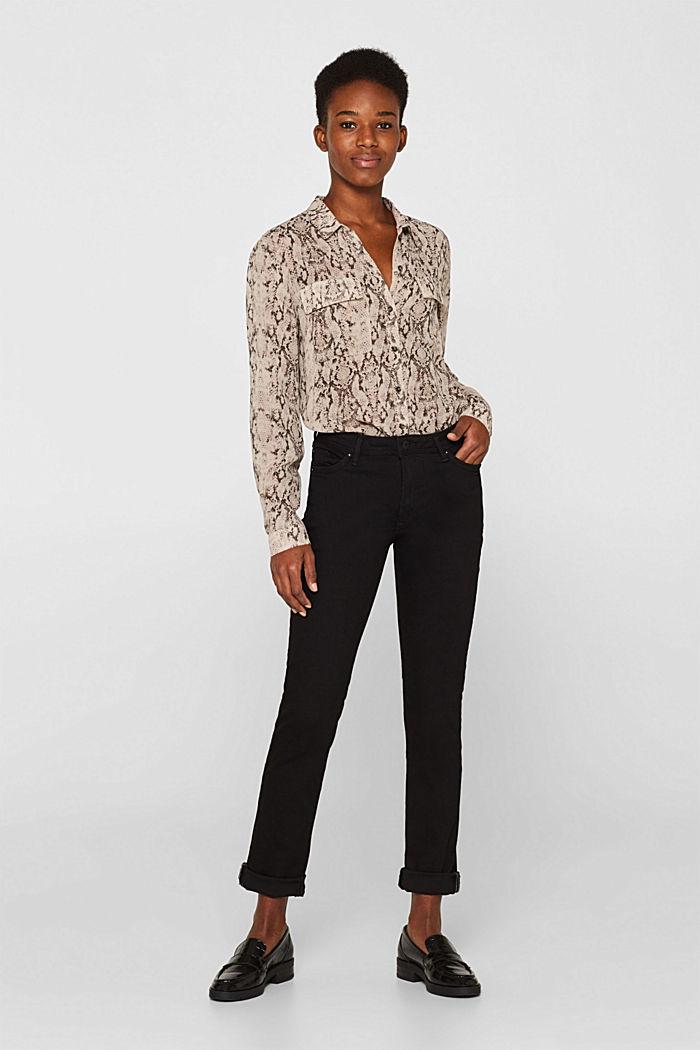 Stretch jeans in black denim, BLACK RINSE, detail image number 0