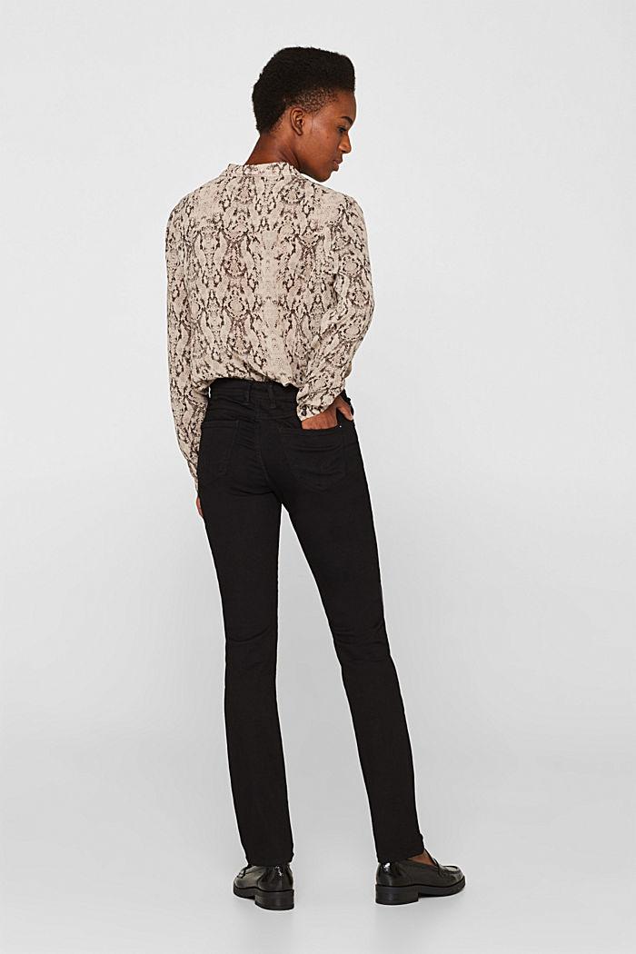 Stretch jeans in black denim, BLACK RINSE, detail image number 3