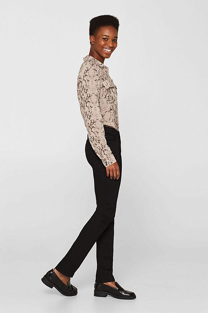Stretch jeans in black denim, BLACK RINSE, detail image number 1