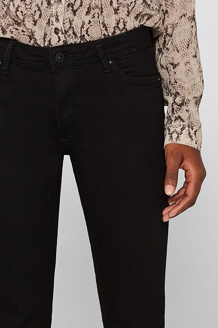 Stretch jeans in black denim, BLACK RINSE, detail image number 2