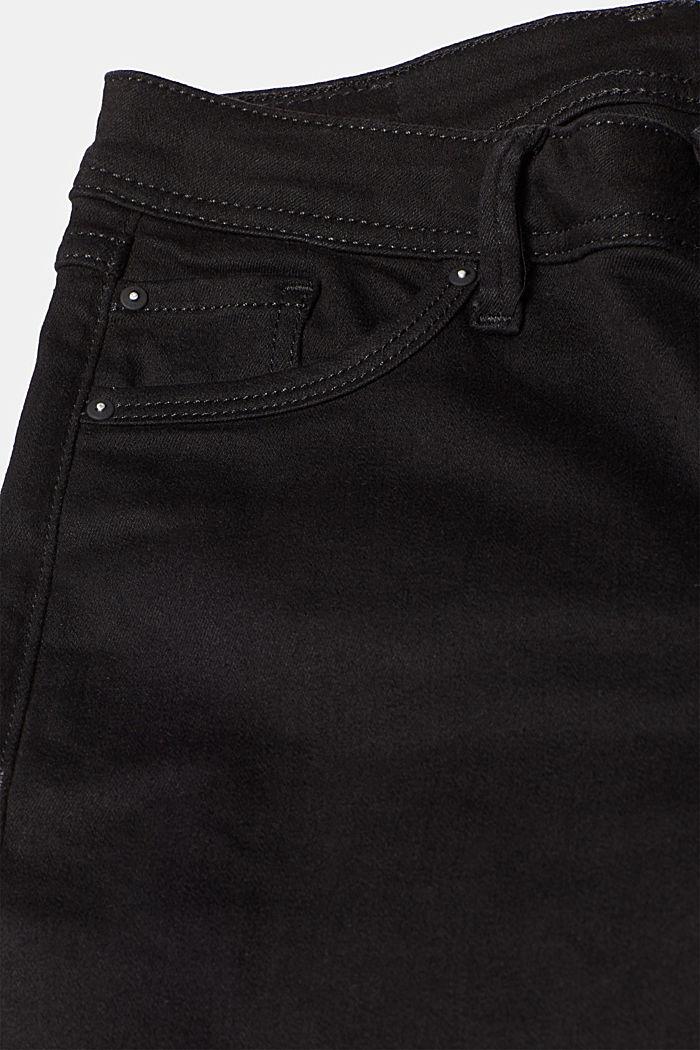 Stretch jeans in black denim, BLACK RINSE, detail image number 4