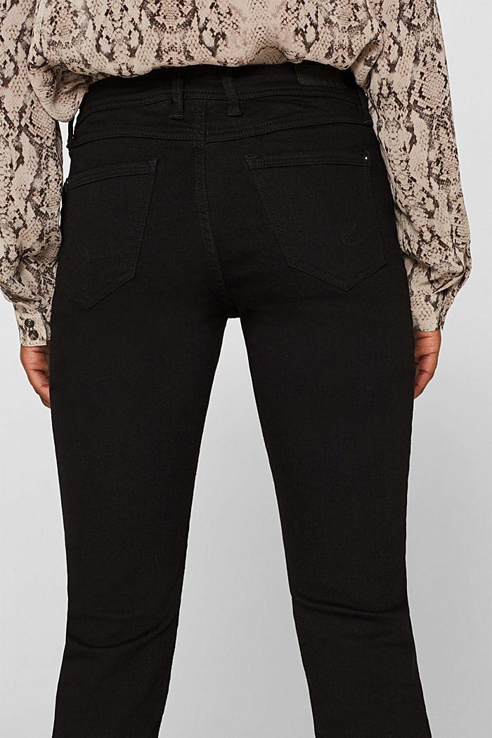 Stretch jeans in black denim, BLACK RINSE, detail image number 5