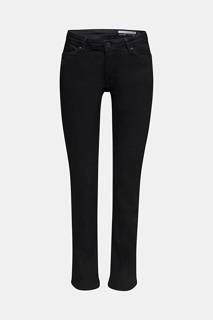 Stretch jeans in black denim, BLACK RINSE, detail image number 7