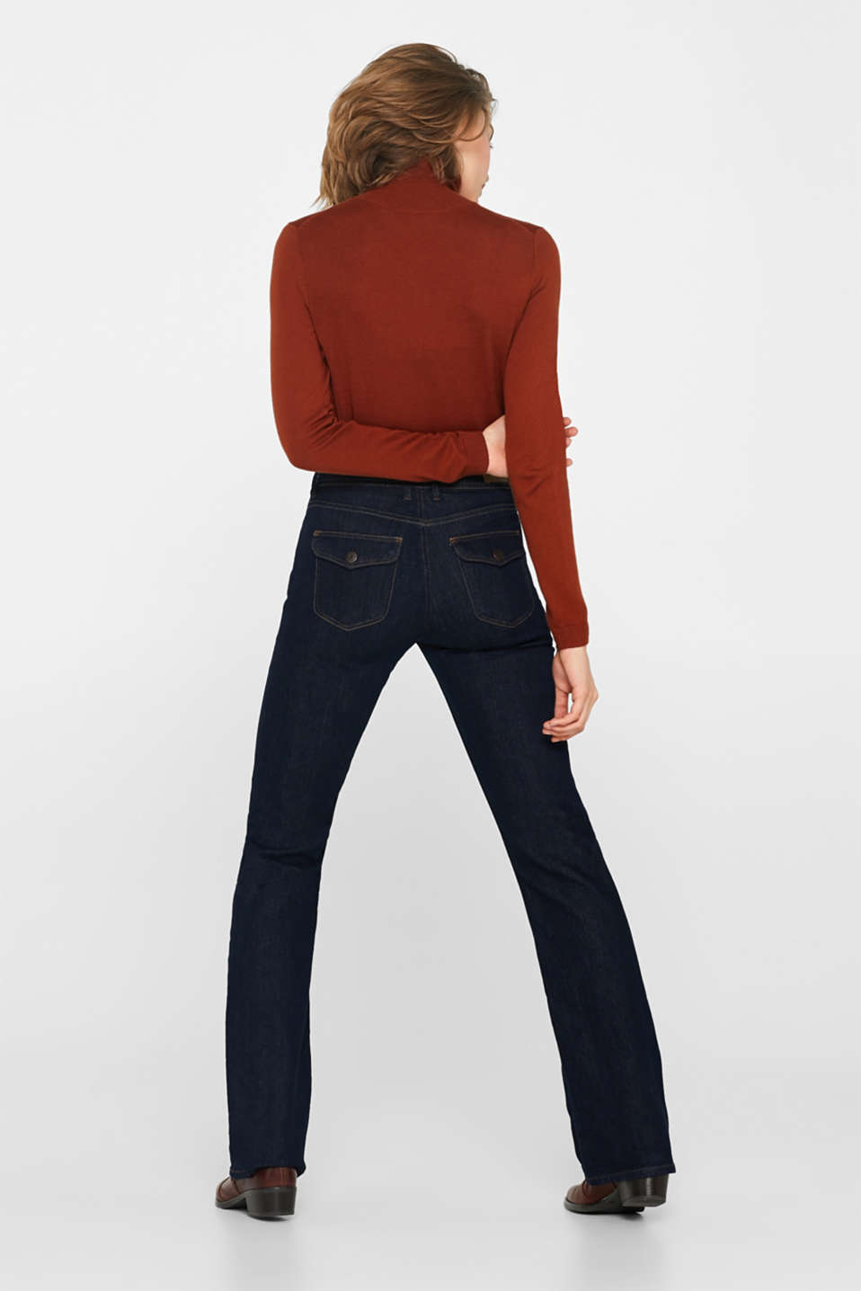 Stretch jeans containing organic cotton, BLUE RINSE, detail image number 3