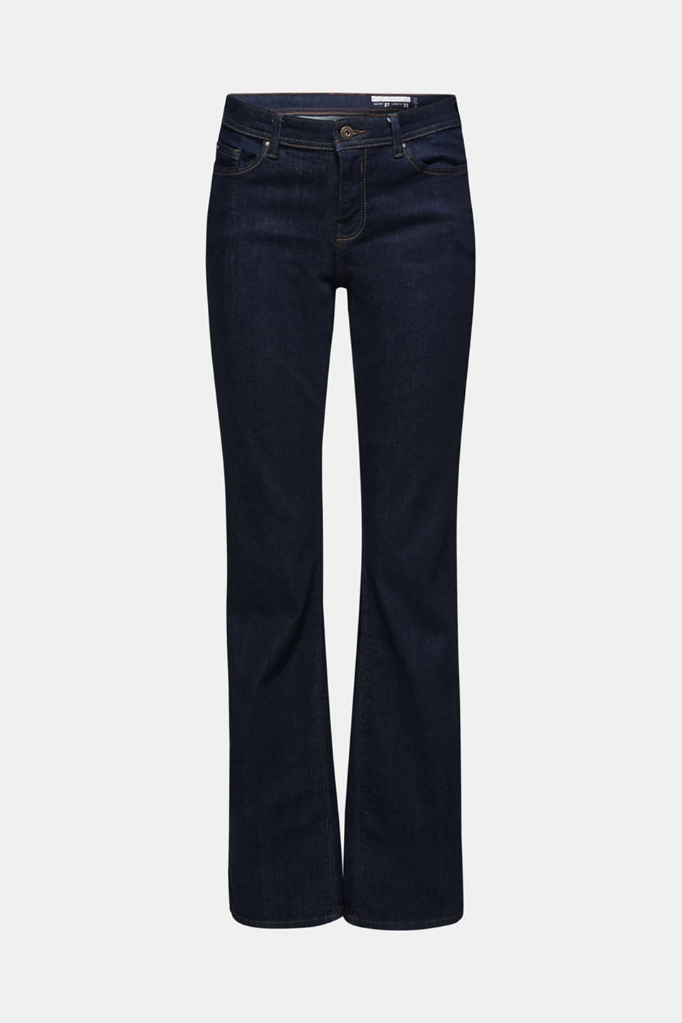 Stretch jeans containing organic cotton, BLUE RINSE, detail image number 7
