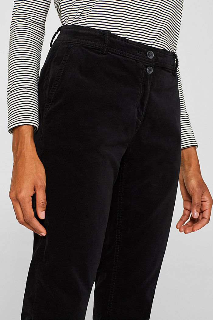 Stretch cord chinos, BLACK, detail image number 2