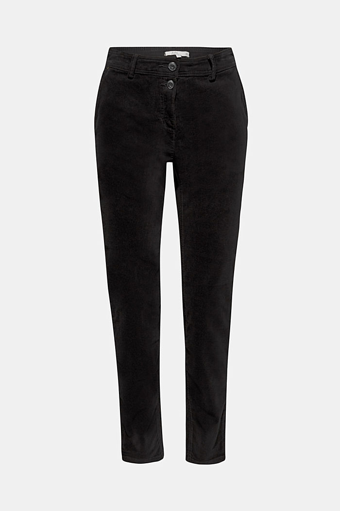 Stretch cord chinos, BLACK, detail image number 7