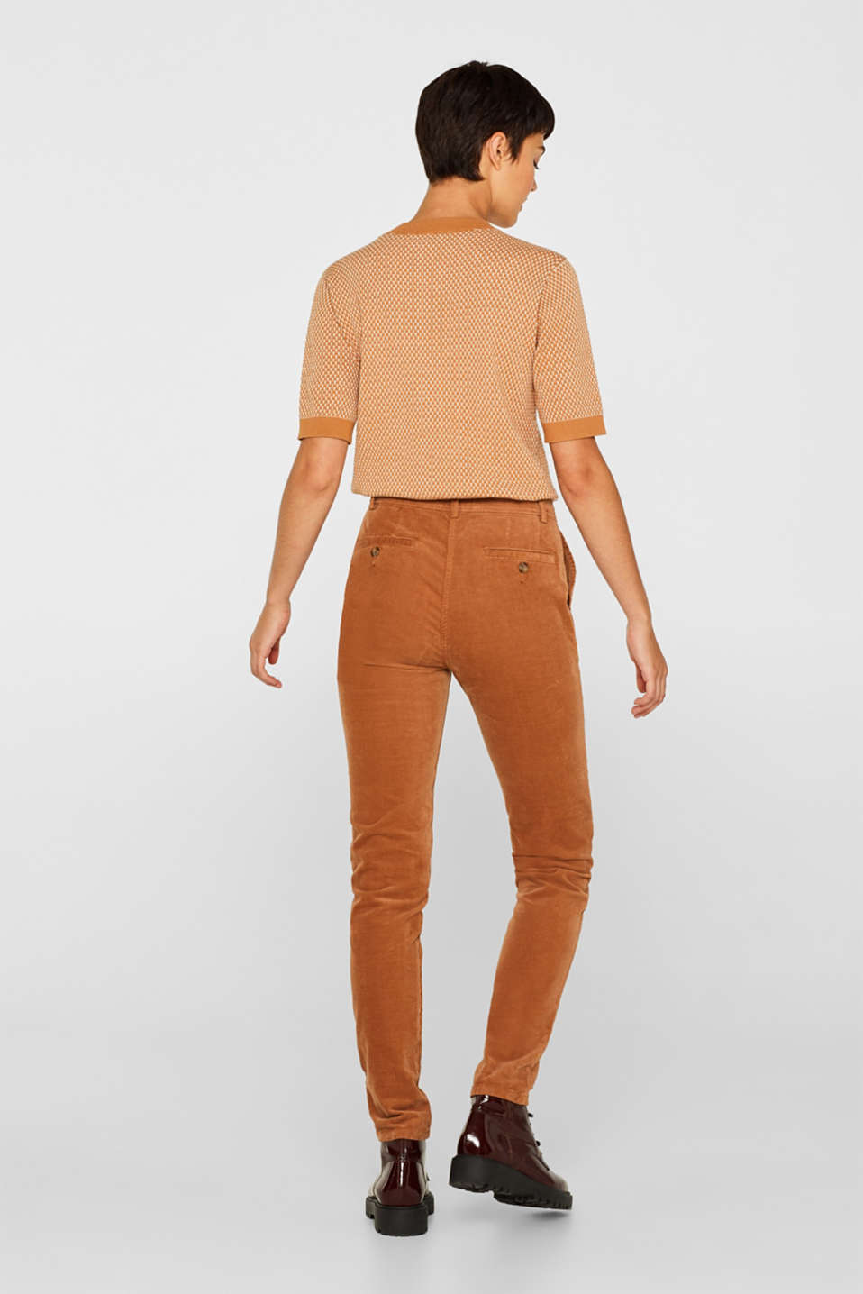 Stretch cord chinos, CARAMEL, detail image number 3