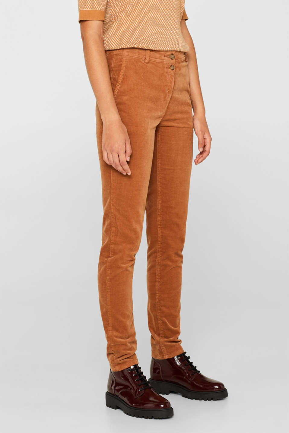 Stretch cord chinos, CARAMEL, detail image number 7