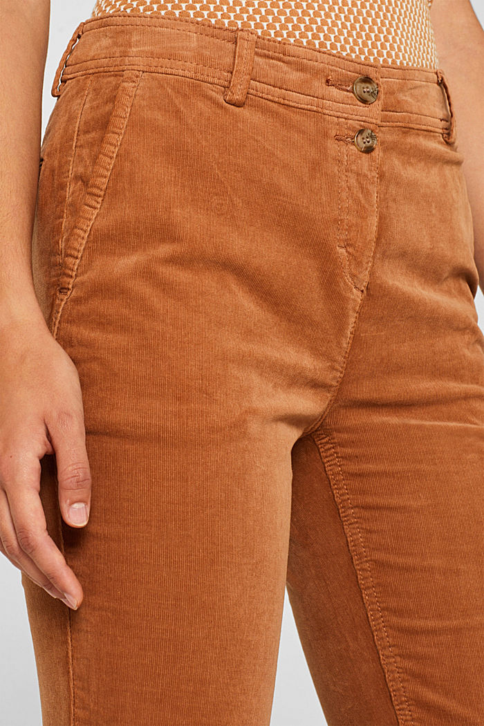 Stretch cord chinos, CARAMEL, detail image number 2
