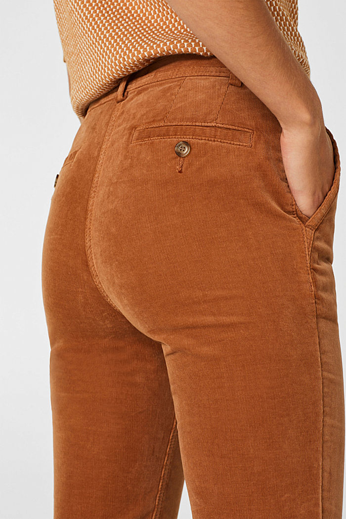 Stretch cord chinos, CARAMEL, detail image number 6